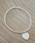 Zilveren armband met hart www.edenshop.nl