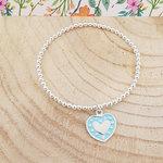 Armband met turquoise hartje