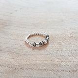 elastische ring van zilver rvz15