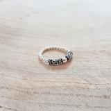 Elastische ring zilver rvz16
