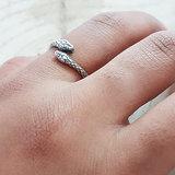 Slangen ring van zilver