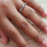 Elastische ring van zilver
