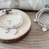 Zilveren armbanden setje met hartjes
