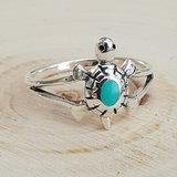Zilveren schildpad ring _