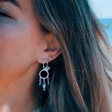 Zilveren Bali bead oorbellen_