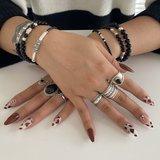 Black onyx armband met zilveren kraal_