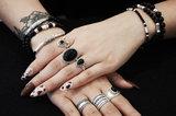 Black onyx armband met kleine buisjes_