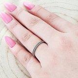 Zilveren ring met streepjes rondom_