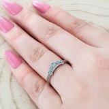 Zilveren ring tiara_