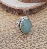 Zilveren ring met Amazoniet_