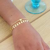Goldplated armbandjes met hartjes _