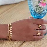 Goldplated armbandjes met sterretjes_