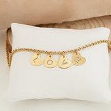 Goldplated naam ketting_