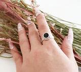 Zilveren ring met steen_
