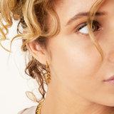 Fishbone gold earrings