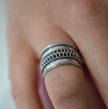 Boho ring van zilver