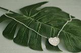 Ketting van zilver met hart_
