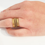 Bali style goldplated ring