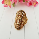 Boho ring goldplated_