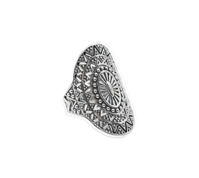 Zilveren ring Big Bohemian