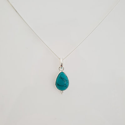 Ketting met hanger (turquoise)