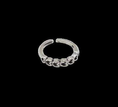 Zilveren teenring