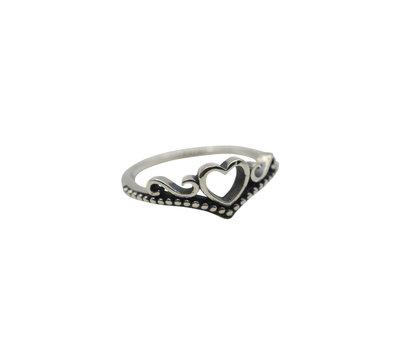 Ring van zilver boho heart