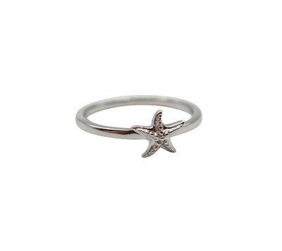 Ring van zilver met starfish