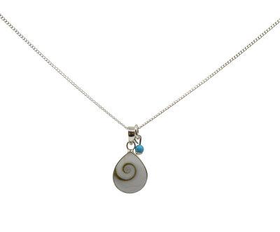 Zilveren ketting met schelphanger