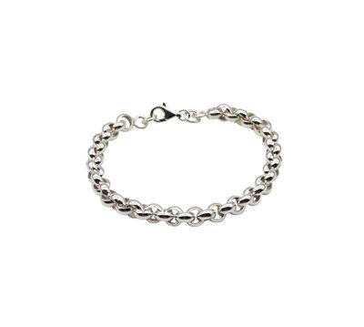 Zilveren armband met jasseron schakels