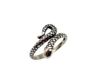 Zilveren snake ring