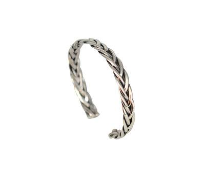 Zilveren gevlochten armband