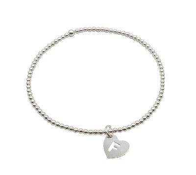 Zilveren armband met letter