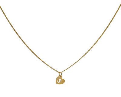 Goldplated ketting met hartje met letter