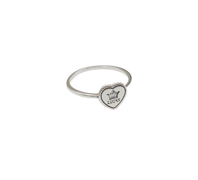 Ring van zilver met tekst