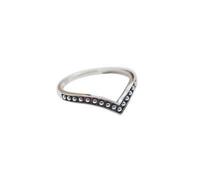 Ring van zilver v-vorm