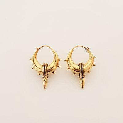 Goldplated oorbellen Boho Big