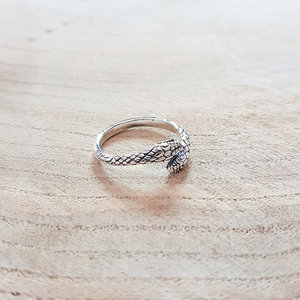 Slangen ring zilver
