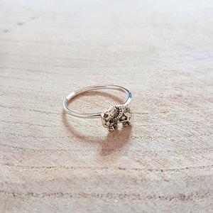 Ring olifantje zilver eden