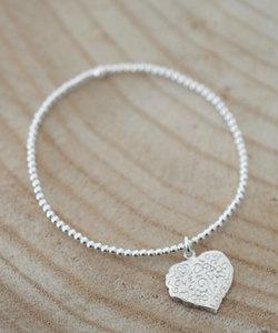Zilveren armband met hartje www.edenshop.nl