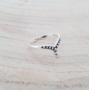 V-ring zilver