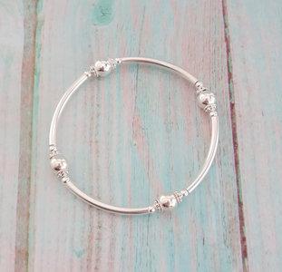 Zilveren Bali Style armband