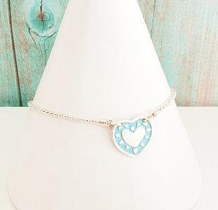 Ketting met turquoise hart