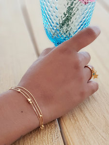Goldplated armbandjes met sterretjes