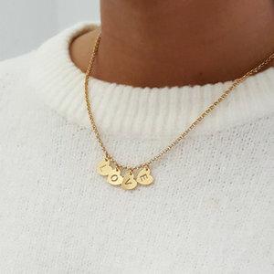 Goldplated naam ketting