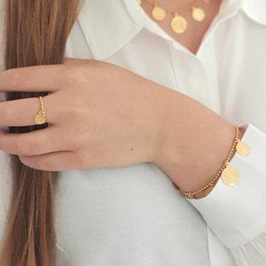 Vergulde armband met muntjes