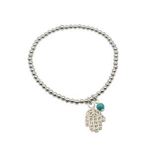 zilveren armband met hamsa handje van fatima