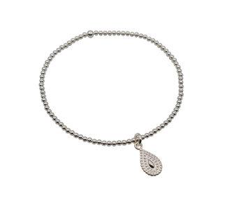 zilveren armband met druppel traan