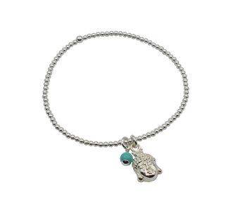 buddha armband van zilver