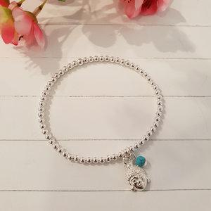 Zilveren armband met Boedha hoofd